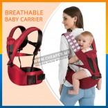 Breathable Baby Carrier Sling Cotton Hood Infant Toddler Kangaroo Backpack