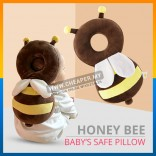 Honey Bee Baby Head Protection Pad Pillow Wing Resistance Cushion
