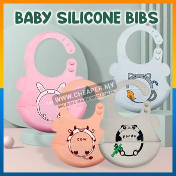 Baby Silicone Bibs Adjustable Waterproof Feeding Lembut Baby Bib Kids Boy Girl Aprons Children Eating Meal