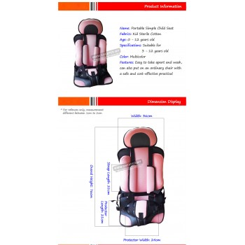 Original Baby Child Kid Safety Car Seat Car Cushion