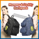 [CLEARANCE] Diaper Bag for Mummy Daddy Waterproof Stroller Changing pad Backpack