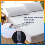 Mattress Protector Cover Waterproof Premium Fitted Cotton Cover