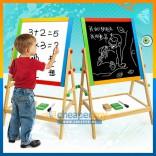 2 in 1 Children Blackboard & Whiteboard Wooden Easel Magnetic Board