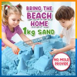 Kinetic Sand 1kg Free 12 Molds Kids Children toys Play & Learn