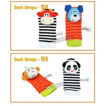 [CLEARANCE] Animals Rattles Wrist Straps Socks Baby Straps Newborn Set