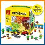 Bricks compatible 72/625 Pieces Bricks Building Blocks Toy (Age 3+/6+)