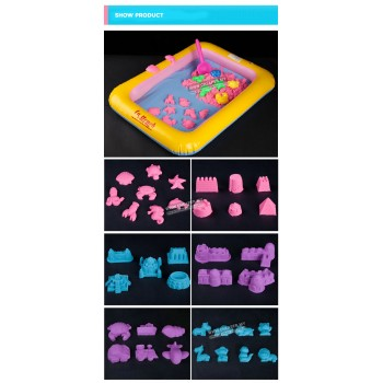[CLEARANCE] Natural Motion Moving Kinetic Play Sand Beach Kinetic Sand for Kids Growth Creative