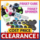 [CLEARANCE] HOT ITEM! Fidget Cube & Fidget Spinner Stress Reliever