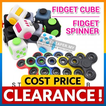 [CLEARANCE] HOT ITEM! Fidget Cube & Fidget Spinner Stress Reliever
