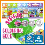 Magic Water Air Drawing Colouring Mewarna Book Doddle Single Use Drawing Sheet With Water Marker【FREE PEN】