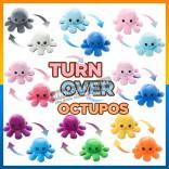 TIKTOK 20cm Double Face Reversible Octopus Doll Plush Toy Flip Mood Patung Sotong Bipolar Octupus Soft Toy