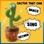 Dancing Cactus Dance Toy 120 Songs Swing Twisted Electric Plush Musical Lagu Singing dan Dancing Menarik