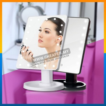 Touch Screen 16 LEDs Makeup Cosmetic Mirror Adjustable Vanity Counter top Mirror