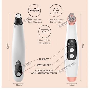 Blackhead Remover Facial Skin Cleanser Vacuum Suction Sedutan Pore Clean Machine Clean Beauty Device Muka