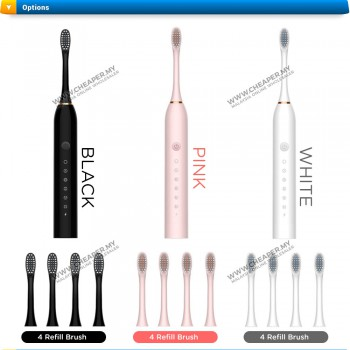 Electric Toothbrush 6 Modes Gentle Clean Care Vibration Sonic USB Rechargeable Toothbrush For Adult