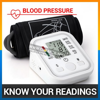 Digital Arm Blood Pressure LCD Monitor & Heart Beat Monitor