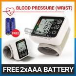 Digital Wrist Blood Pressure LCD Monitor & Heart Beat Monitor