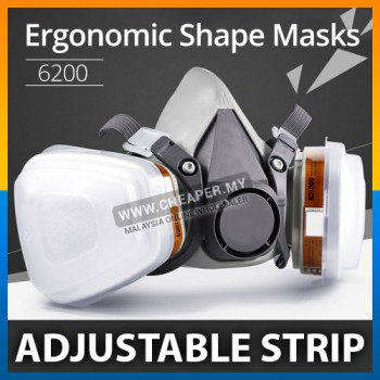 3M 6200 Gas Mask Safety Filter Dust Mask chemical Gas Mask Painting Respirator