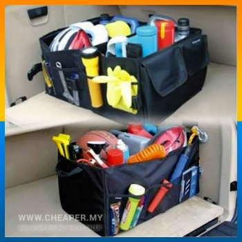 Car Rear Boot Organizer Organiser Storage Compartment Folding Case Bag