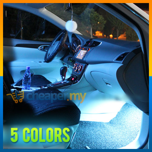 car automotive interior atmosphere diy led ambience glow light. Black Bedroom Furniture Sets. Home Design Ideas