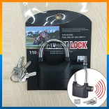 Original Anti Theft SIREN ALARM PADLOCK for Door Motor Bike Pad Lock