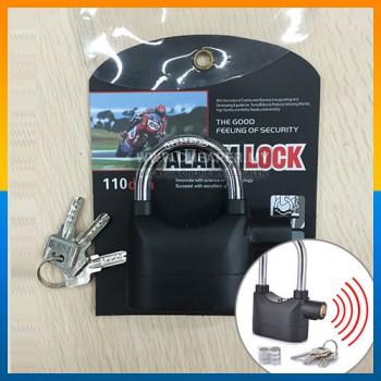 Original Anti Theft SIREN ALARM PADLOCK for Door Motor Bike Pad Lock