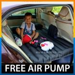 Inflatable Car Back Seat Air Bed Mattress Pillow Travel Camping Sleep