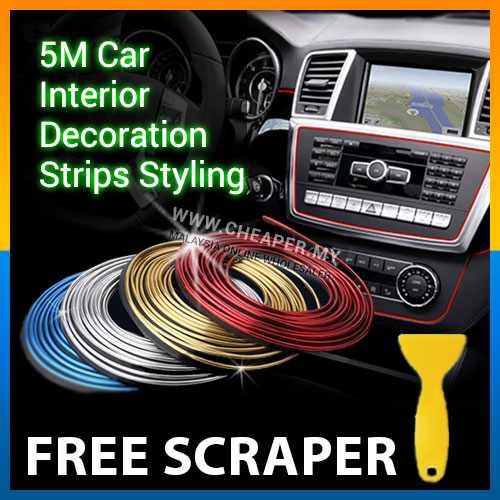 5m Car Interior Decoration Strips Styling Auto Accessories