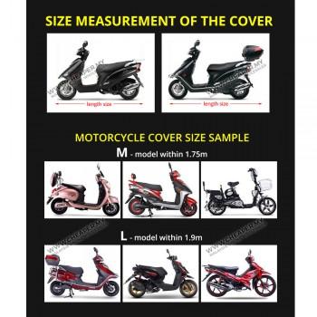 Motorcycle Waterproof Rain Cover Penutup Motorsikal UV Protection Motorbike Cover