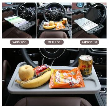 Car Steering Wheel Table Notebook Desk Car Dining Tray Laptop Dulang Reading Writing Roda Stereng Kereta