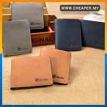 [CLEARANCE] Sevjink Frosted Genuine Leather Men Short Premium Stylish Wallet