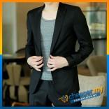 Korean Style Casual Slim Fit Men Blazer Coat Jacket/Wedding Suit