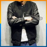 NEW!!! Korean Stylish Men Layered Baseball Jacket Good Quality Waterproof Jacket Collar Casual Fashion Fit