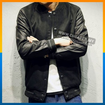 NEW!!! Korean Stylish Layered Baseball Jacket