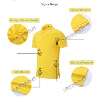 100% No shrink Pique Cotton Polo T-shirt 5 colors up to 3XL
