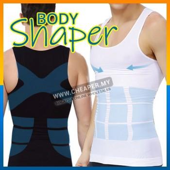 Men's Slimming Body Shaper Belly Fatty Vest Shirt Corset Compression Bodybuilding