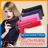 PU Leather Clutch Woman Long Purse Wallet Wristlets Zip Pouch Coin Purse