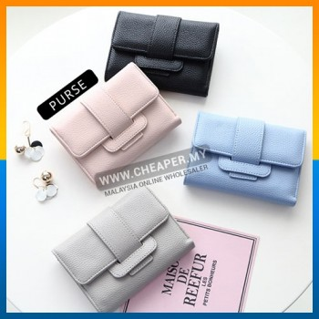 Female Fashion Sweet Casual Short Wallet Leather Carteira Coin Card Purses