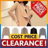 [CLEARANCE] Korean Ladies Ruffled Blazer Shoulder Padded Dual Color Top