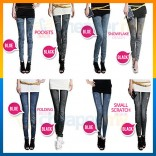 Denim Jeans Printing Legging