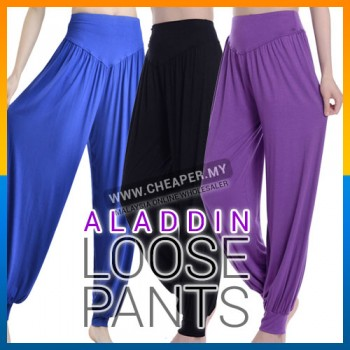 Summer Loose Trousers Comfort Gypsy Belly Dance Yoga Tai-Chi Aladdin Pants