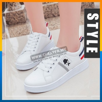 Casual Fashion Ankle Mustache Sneakers Shoes The Trend Hipster Style Sneaker