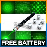 Laser Green Pointer Pen Star Cap High Power 2in1 6in1 5mw Powerful