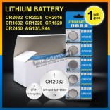 CR2032 CR2025 CR2016 CR1632 CR1220 CR1620 CR2450 AG13/LG44 Lithium Battery Made in Japan Coin Cell Watch Electronic
