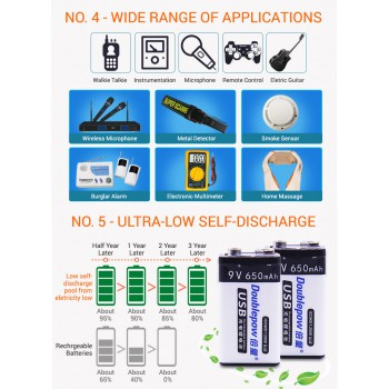 SmartTAG TouchnGo RECHARGEABLE 9V USB Battery 650mAh devices toys