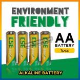 1.5V Premium High Heavy Duty 【1 x AA】Supercell Battery Tahan Lasak ALKALINE Remote Control Toy Mainan Alarm