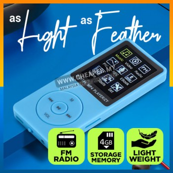 Walkman Ultra-Thin LED Screen MP4 FM, Player Lyrics, Speed Change, Repeat, E-Book Lossless MP4, Sports Running Player