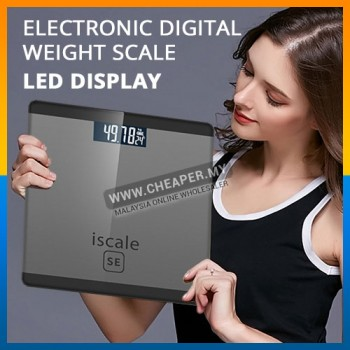 ISCALE Electronic Digital Body Scale High Accuracy Weight LCD Display