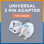 3-Pin Conversion Plug Universal Adapter British Socket Adapter Malaysia Travel Converter Adaptor Socket