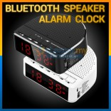Bluetooth Wireless Speaker with Alarm Clock, Radio, Memory Card